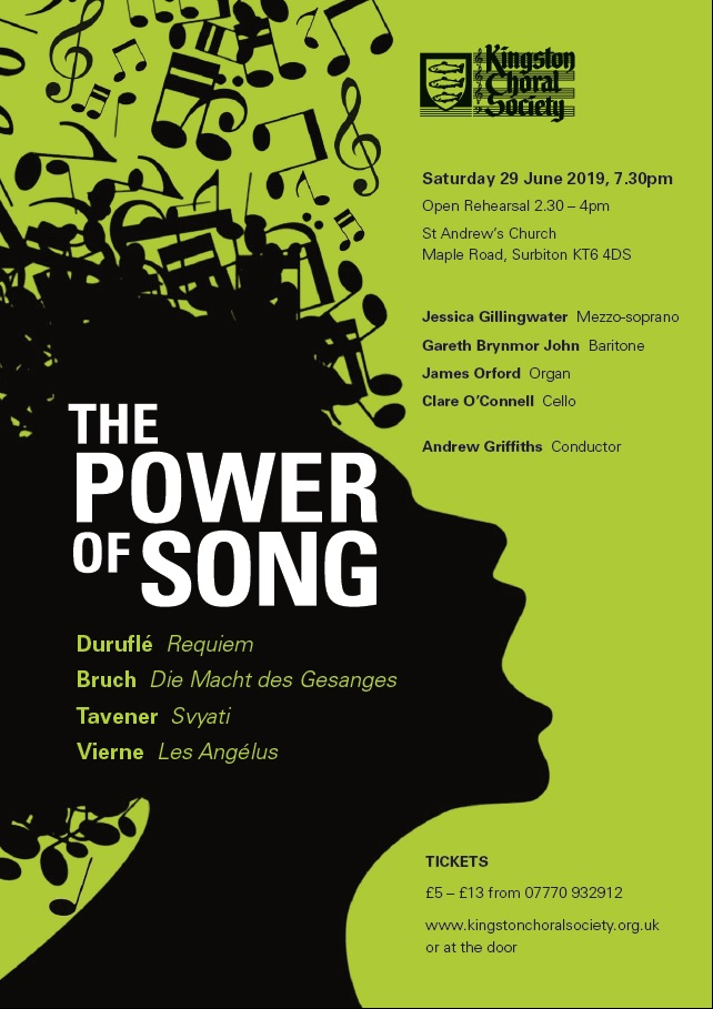 Kingston Choral Society Summer Concert - The Power of Song