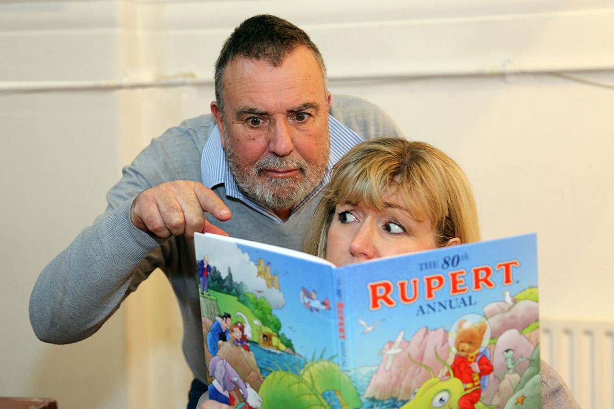 Ian Mole and Debra Shepherd in Rupert and the Search for a Modern Adventure