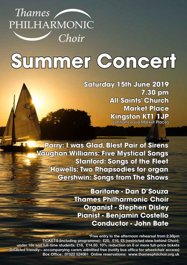 Thames Philharmonic Choir summer concert