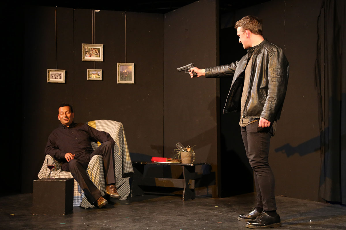 Martin Marfé and Andrew Deamer in Welcome to Whitemore