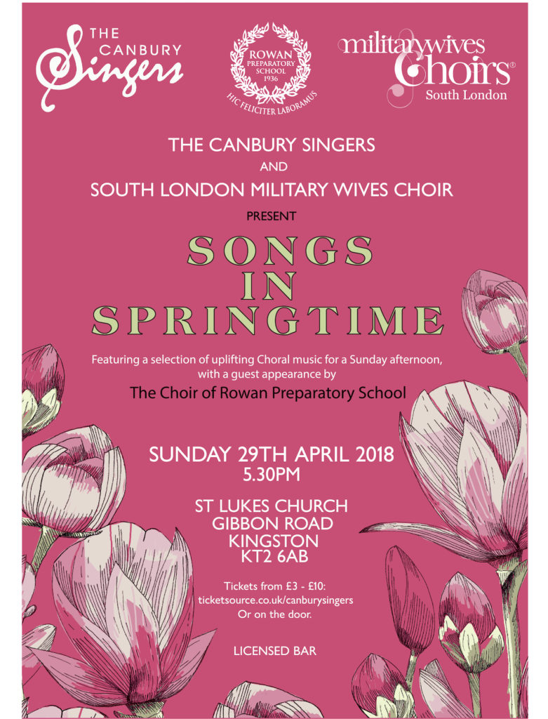 Songs in Springtime - Canbury Singers